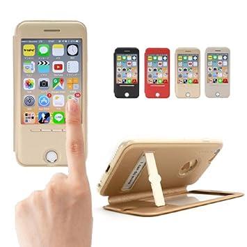 edb60b872c Amazon | 【totu-fullview】iPhone6s PLUS(5.5inch) ケース 手帳型/窓 ...