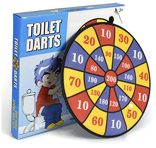 Funny Gag Gift Dart Game for Bathroom, Humorous Prank Toy for Men, Birthday,...