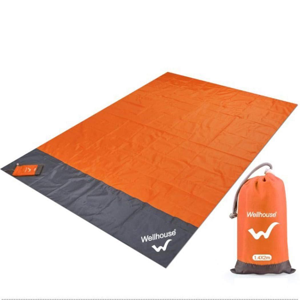 Kisshes 140x200cm Wasserdicht Ultraleicht Picknickdecke Isomatten Waschbar Stranddecke Sandabweisend Outdoor Camping Picknick Decke