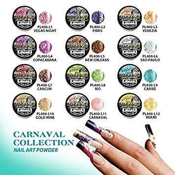Mia Secret Professional Nail System Acrylic Powder + FREE NAIL BRUSH (12pcs CARNAVAL)