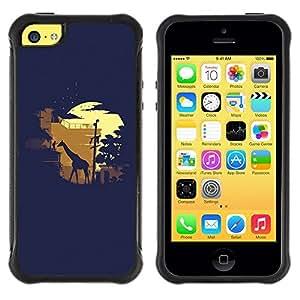 "Hypernova Defender Series TPU protection Cas Case Coque pour Apple iPhone 5C [Moonlight Safari de la jirafa""]"