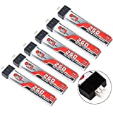 6pcs GNB 260mAh HV 1S LiPo Battery 30C 3.8V LiHV for Tiny Whoop JST-PH 2.0 Powerwhoop mCPX Connector