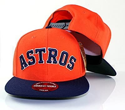 MLB American Needle Scripteez Cooperstown Wool Adjustable Snapback Hat (Houston Astros)