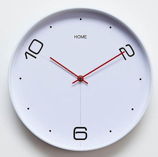 Amazon.com: BiuTeFang Clock Clock living room modern simple quiet stylish creative bedroom quartz clock round clock: Home & Kitchen