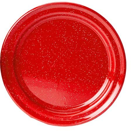 - GSI Outdoors Red Enamelware 10 inch Plate