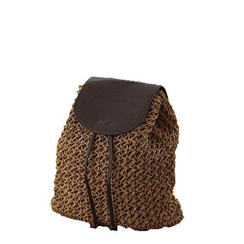 JUND - Bolso mochila para mujer caqui Marrón