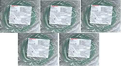 Adult Ultra Soft Oxygen Cannula, green tubing - 7 Ft (Westmed #0556) pk 5