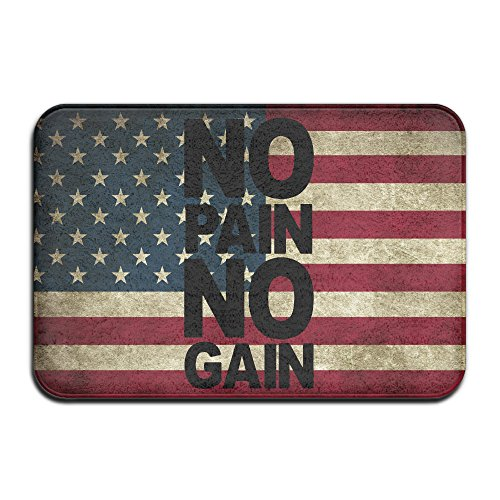 NO Pain No Gain Non-Slip In/outdoor Doormats 4060