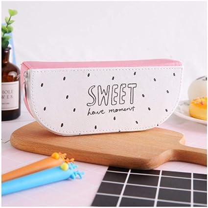 1 estuche para lápices Kawaii, con pegamento de frutas, de piel sintética, ideal para regalo escolar, estuches y estuches, color huo long guo: Amazon.es: Oficina y papelería