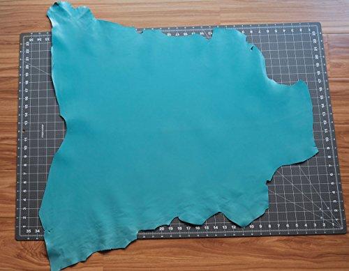 (Kid Skin Goat Leather Hide Light Blue Italian 3-5 sq.f Shoes Bags Wallets)