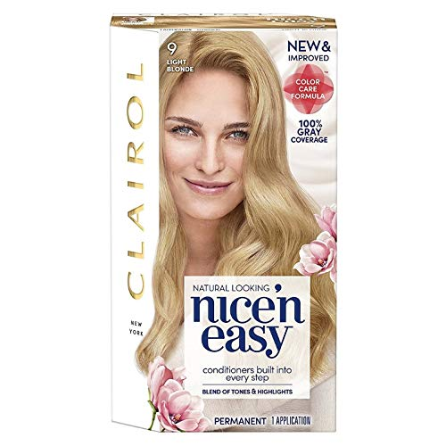 Clairol Nice 'n Easy Permanent Color [9] Light Blonde 1 Kit (Pack of 4)