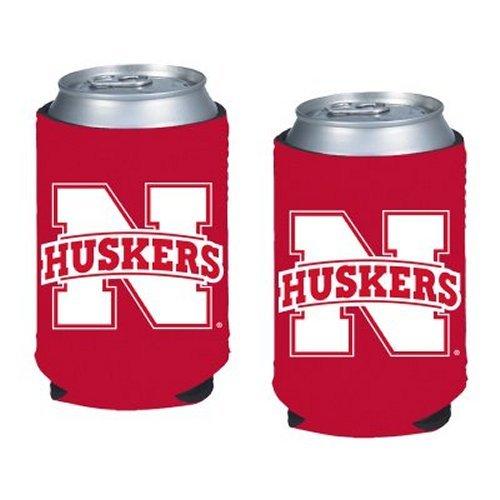 (NCAA Nebraska - Neoprene Pocket Coolies (2) | Nebraska Cornhuskers Collapsible Beverage Insulators - Set of 2)