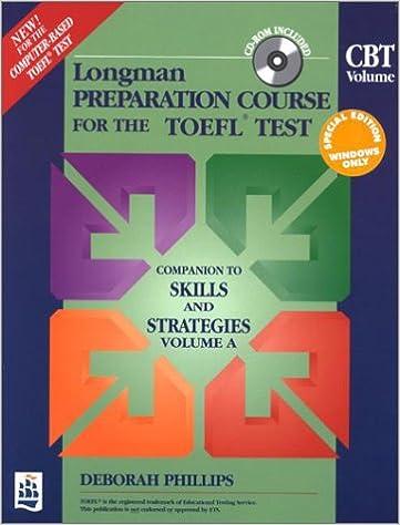 longman preparation course for the toefl test cbt volume