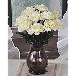 Lopkey Fake Silk Flower Wedding Decor Artificial Carnations Bouquets Bush 30