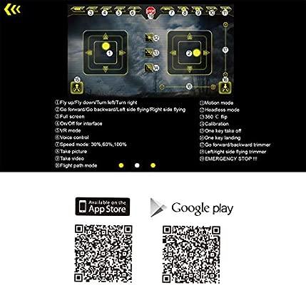fghfhfgjdfj Attop X-PACK1 2.4G Drone 720P HD WiFi Cámara Gran ...