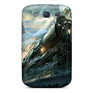 AngelineMS Perfect Tpu Case For Galaxy S3/ Anti-scratch Protector Case (train Winter)