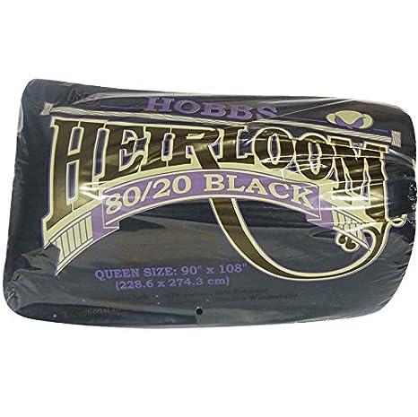 Black 80/20 Cotton Blend Heirloom Premium - Queen 90 x 108 Inches Hobbs