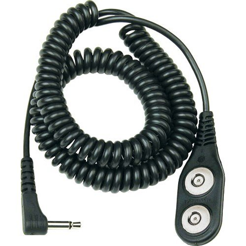Desco Jewel Wrist Strap Single Conductor Coiled ESD Grounding Cord PRICE is per EACH 19820 6 ft Length