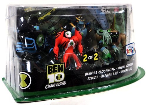 Ben 10 Omniverse Exclusive Action Figure 5Pack Azmuth, Haywire Eatle, Haywire...