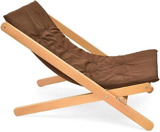 WYYY silla de Oficina Sillón Reclinable Plegable Silla Portátil para Sofá Vago Patio Jardín Deporte De Camping Tumbona Tapizado Marco De Madera Durable Fuerte (Color : Brown): Amazon.es: Hogar