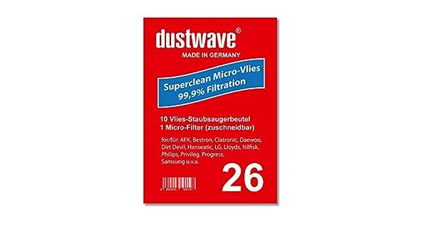 dustwave® - 10 bolsas para aspiradora Fagor VCE 2205 (fabricadas en Alemania, incluye microfiltro): Amazon.es: Hogar