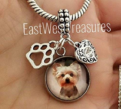 Yorkie yorkshire terrier Dog Custom Photo charms pendant- for bracelets necklaces-jewelry gifts -