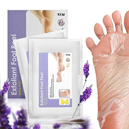 Foot Peel Mask, Y.F.M - 2 Pairs Foot Peeling Mask, Exfoliating Calluses and Dead Skin Remover,Repair Rough Heels, Get Soft Baby Foot,Lavender Scented?Completed in 2-7 days