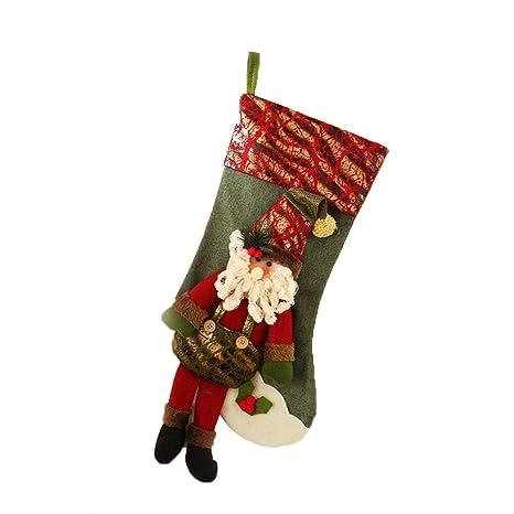 TREESTAR Calcetines de Navidad Calcomanías de Navidad Calcetines de Navidad Colgante de Navidad Muñeco de Nieve