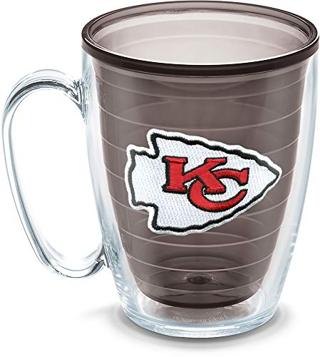 Tervis NFL Kansas City Chiefs Emblem Individual Mug, 16 oz, Quartz