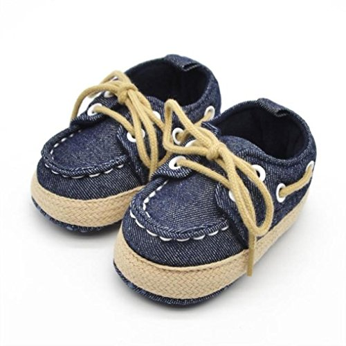 Orangeskycn Baby Toddler Shoes,Infant Kid Boy Girl Soft Sole Sneaker Casual Shoes (0~6 Month, Dark Blue)