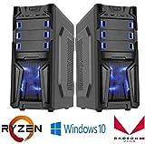 Gaming Desktop Custom PC System AMD Ryzen 2200G 3.7 GHz 240 GB SSD Gaming LED Tower Windows 10 HDMI WiFi