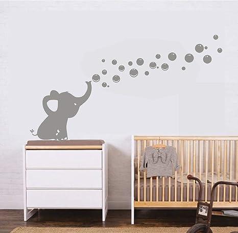 MAFENT Un Adorable Elefante Soplar Burbujas Wall Decal Vinilo ...