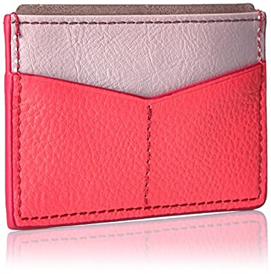 Fossil Card Case-neon Coral Credit Card Holder