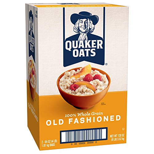 Quaker Oats Old Fashioned Oatmeal, Breakfast Cereal, 8 Pound (Solid Pecan)
