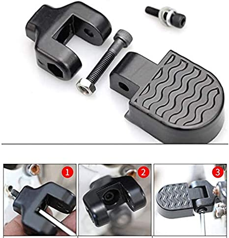 2Pcs Mountain Bike Bicycle Rear Seat Folding Foot Pegs Footrest Pedals Steps New