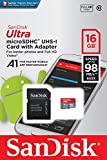 SanDisk 16GB Ultra microSDHC UHS-I Memory Card with
