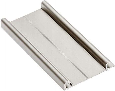 4 x rieles inferiores de aluminio de 3 m para puertas correderas de armario, color champán: Amazon.es: Bricolaje y herramientas
