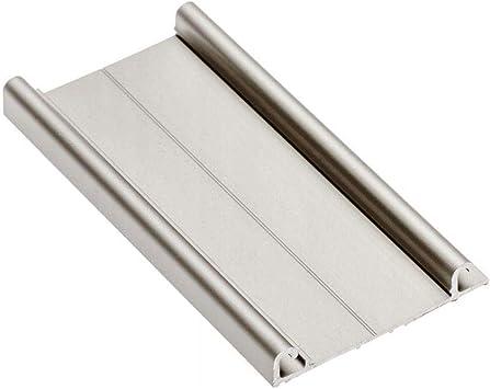 5 x rieles inferiores de aluminio 3 m para puertas correderas de armario, color champán: Amazon.es: Bricolaje y herramientas