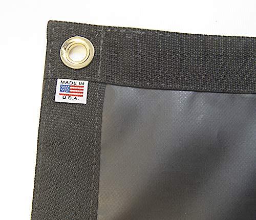 Tarp, Black, Durable, Waterproof, 10 Oz. Vinyl w/Reinforced Edges (3' X 6' Feet) (Oz Polyester Black 18 Vinyl)