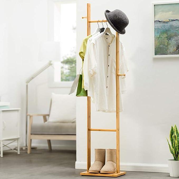 Amazon.com: Perchas de madera maciza para dormitorio con ...
