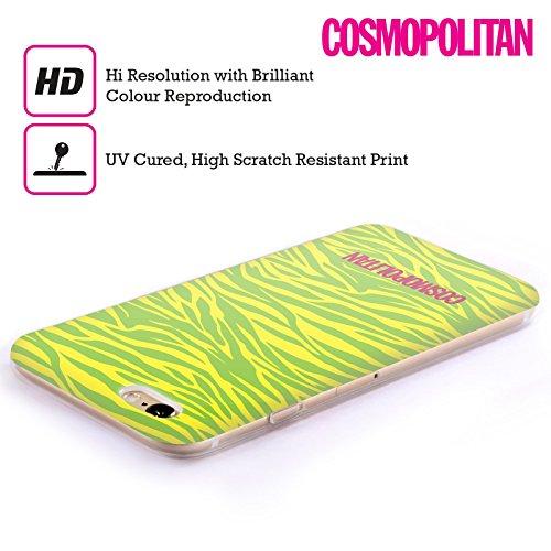 Official Cosmopolitan Yellow Green Zebra Animal Skin Patterns Soft Gel Case for Apple iPhone 5 / 5s / SE