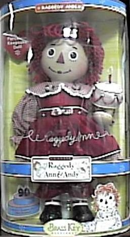 Brass Key Raggedy Ann Porcelain Keepsake ()