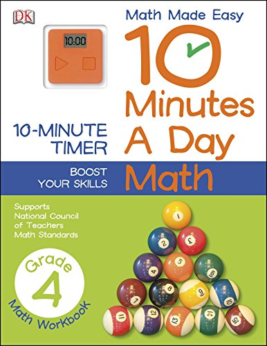 10 Minutes a Day: Math, Fourth Grade: Supports National Council of Teachers Math Standards (Math Made -
