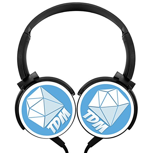 LightWeight Strong Sound Dan TDM Logo Comfort Stereo Headphones Portable Wired Headset Rotation Axis Design Support Cell - Tdm Audio