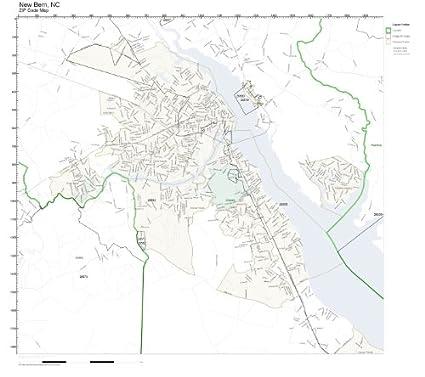 Amazon Com Zip Code Wall Map Of New Bern Nc Zip Code Map Laminated