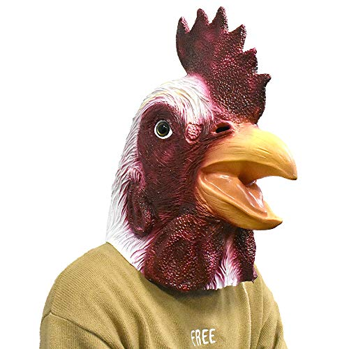 Disguise Costumes For Turkey - Rooster Mask Latex Chicken Turkey Animal