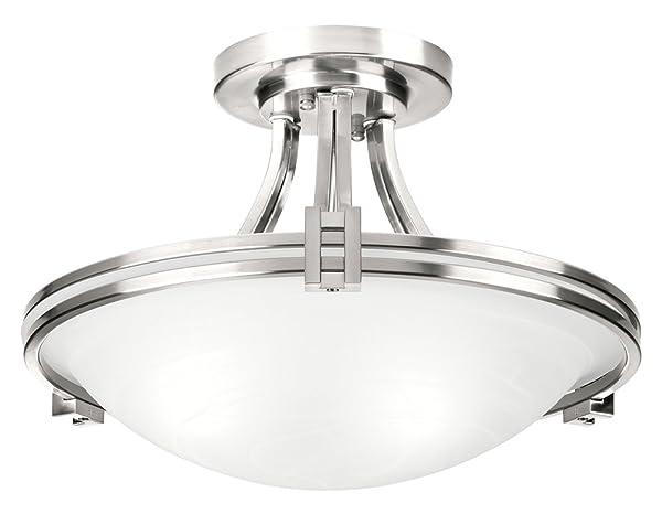 Possini Euro Design Nickel 16quot Wide Ceiling Light Fixture