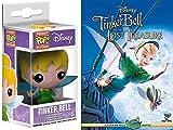 Tinker Bell Mini Figure Pocket PoP! Disney Movie Set DVD Tinkerbell and the Lost Treasure + Funko Keychain