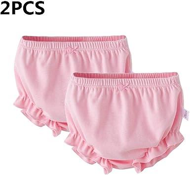 myonly - 2 Bragas Suaves de algodón para bebés y niñas, para niñas de 1 a 3 años Rosa Rosa (Rosado): Amazon.es: Ropa y accesorios