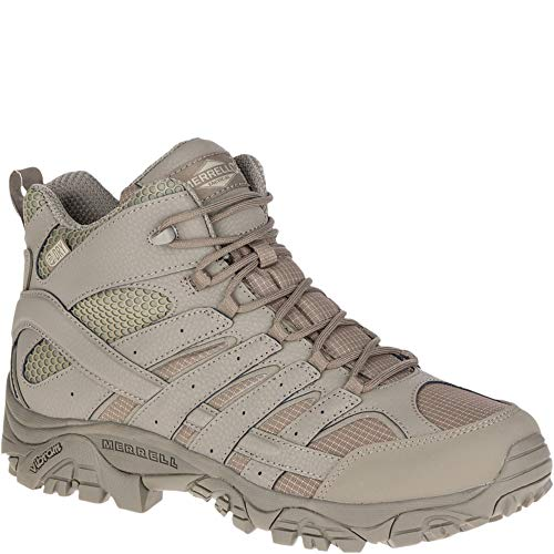 - Merrell Moab 2 Mid Tactical Waterproof Boot Wide Men 11.5 Brindle
